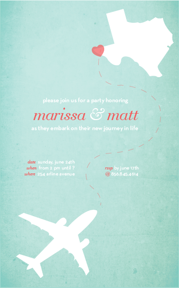 going away party invite melissa stites design - Going Away Party Invite