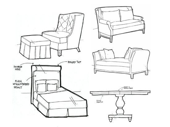 Wooden furniture drawings in autocad pdf plans for Furniture design sketches